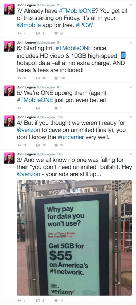 t mobile responds to verizon unlimited plan by including