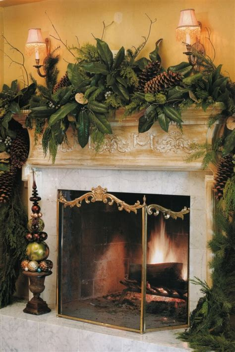 fireplace mantel christmas 52 mantles style estate