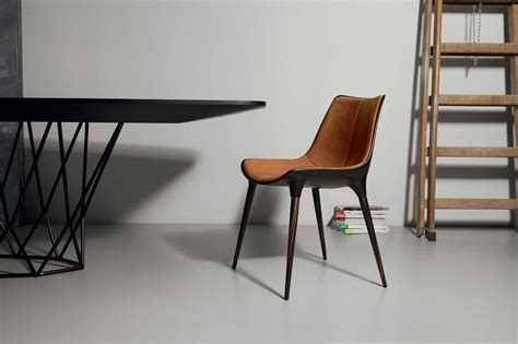Modern Leather Dining Chair by Langham Modern Dining Chair Modloft