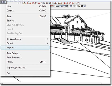sketchup layout export autocad exporting autocad architecture models to sketchup