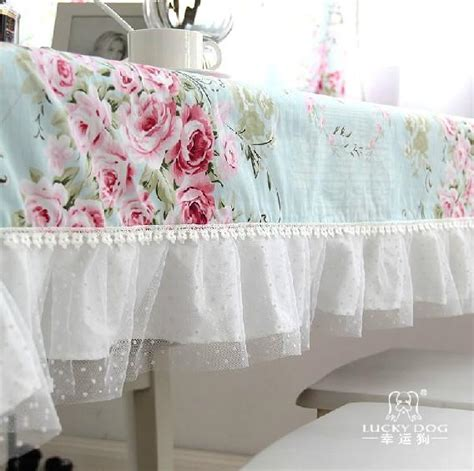 shabby chic table cloths shabby country provincial cottage chic floral blue