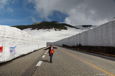 japanese wall snow wall japan tateyama alpine route