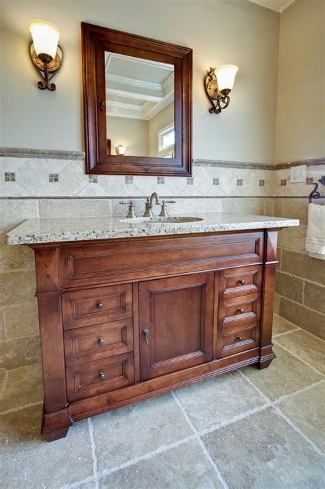 bathroom vanity mirrors Bathroom Traditional with dark