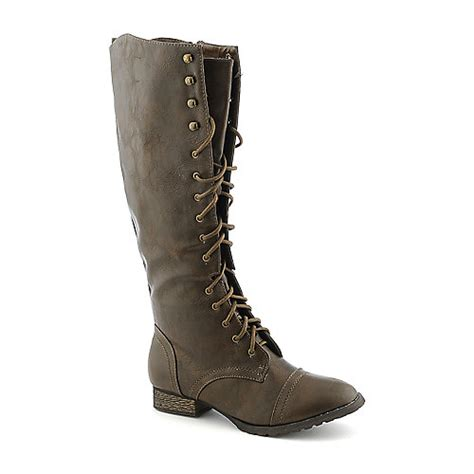 breckelle s outlaw 13 s brown knee high combat boot