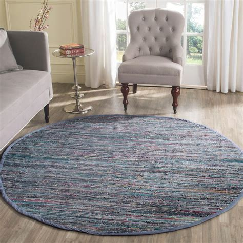 6 foot rug safavieh rag rug purple multi 6 ft x 6 ft area rug rar121d 6r the home depot