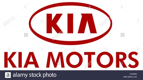 kia motors korea company logo of the korean automaker kia motors in the