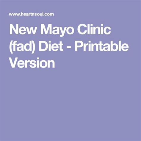 printable version of scarsdale diet new mayo clinic fad diet printable version diet