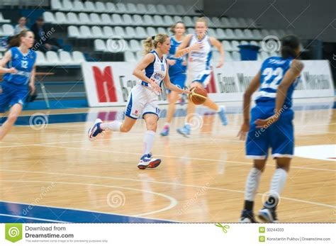 Mba Dynamo Moscow Basketball by Dynamo Defender Ilona Korstin Number 10 Editorial Stock