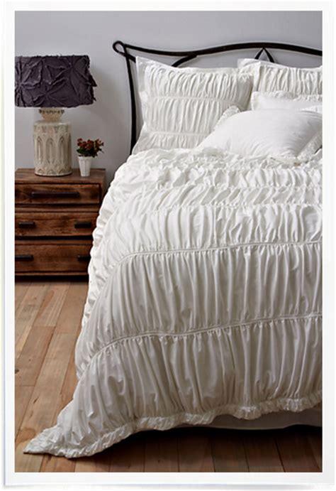 diy comforter guild of goods diy ruffled duvet cover