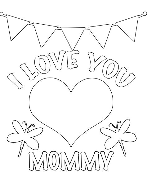 5 Best Images Of I Love My Mom Printables Printable All I My Coloring Pages