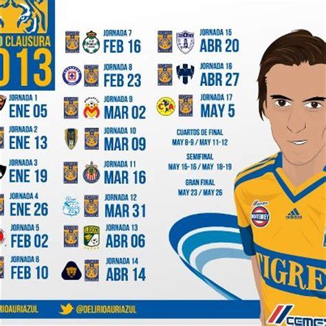 Calendario De Los Tigres Liga Mx Calendario De Tigres 2016 Calendar Template 2016