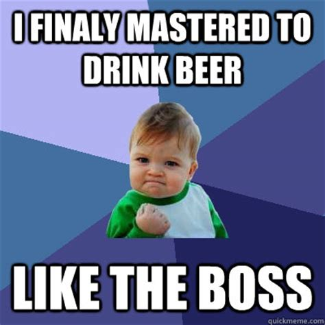 Kid Drinking Beer Meme - success kid memes quickmeme