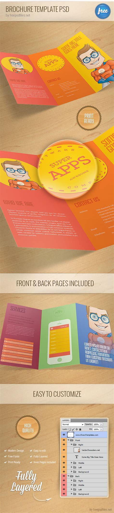 Brochure Template Psd 1 Free Psd Files Brochure Template Psd File Free
