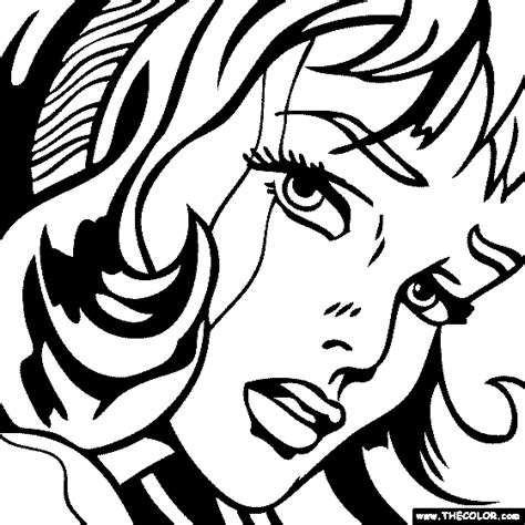 roy lichtenstein girl with hair ribbon