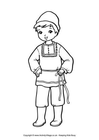 russian boy coloring page russia colouring pages