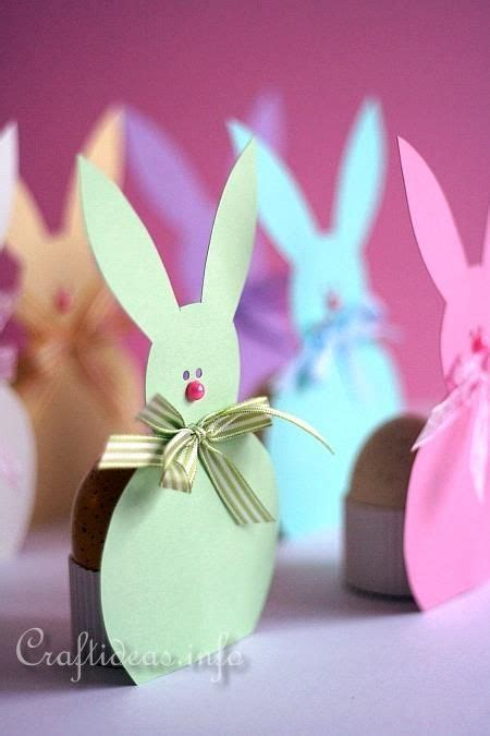 Easter Paper Crafts Free - easter bunny paper egg holders free printable punch