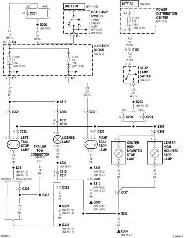 2004 Jeep Liberty Brake System Diagram Left Light And Parking Light Does Not Work