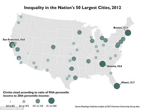 largest cities in the us map wealth gap is widest in rich cities like atlanta san