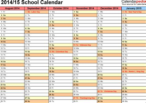 printable academic year calendar 2015 16 16 blank calendar template 2014 2015 images august 2015