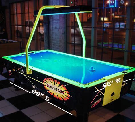 air hockey table dimensions flash air hockey table agr las vegas