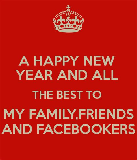 a happy new year and all the best to my family friends and