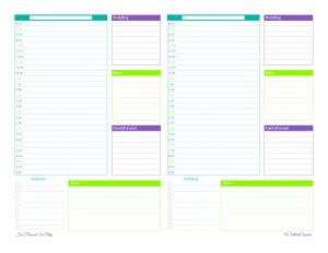 free printable daily agenda half size journals personal planner free printables