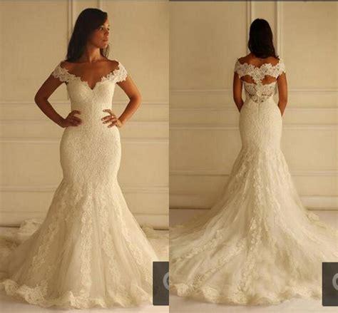 Www Madivas Wedding Dresses 2016 | ivory lace mermaid wedding dresses 2016 cap sleeve long