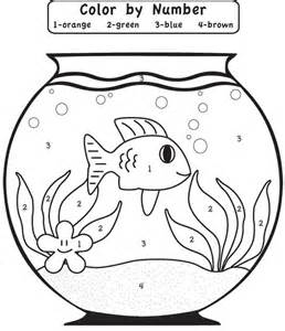 color by numbers coloring pages for kids coloring home