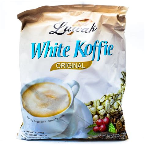 Kopi White Coffee kopi luwak white coffee 400 gram premium low acid instan coffee 20 ct 20 gr