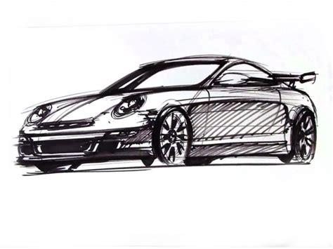 Porsche 911 Sketches by Drawing A Porsche 911 Car Design