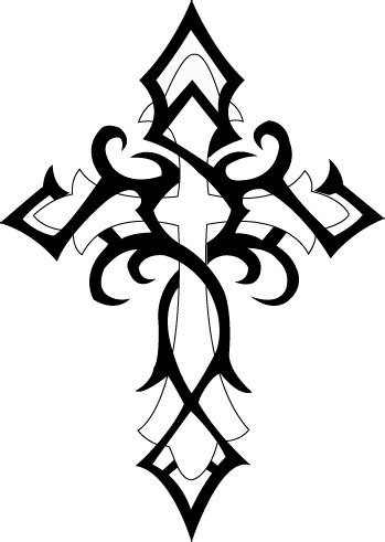 cross tattoo stencil 8 tribal cross designs and stencils