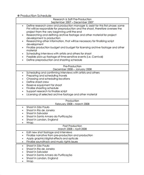 30 Sle Proposal Templates Sle Templates Documentary Template