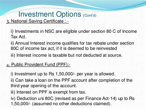 Section 11 C Of The Income Tax Act by 1 Presentation On Personal Financial Planning