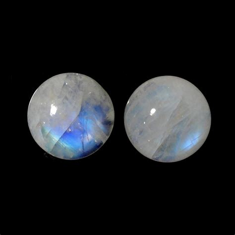 rainbow moonstone rainbow moonstone 13mm matched pair approximately 15
