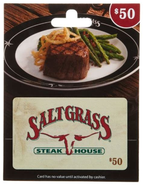 Saltgrass Steakhouse Gift Card - saltgrass steak house gift card 50 arts entertainment party celebration giving cards