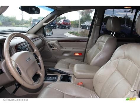 2002 Jeep Grand Interior Sandstone Interior 2002 Jeep Grand Limited 4x4