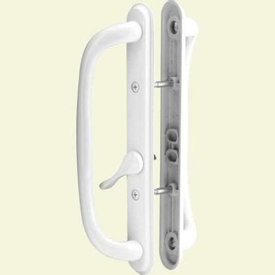 prime line sliding door handle set 10 in pull white c