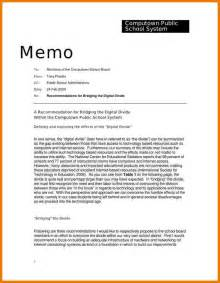 memo sle template 6 memo format sle assistant cover letter