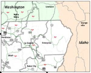 map of northeast oregon oregon maps with cities images