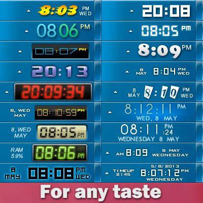atomic alarm clock computer alarm clock and customize tray clock