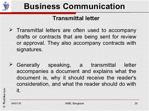Transmittal Letter For Approval Business Communication Module 6
