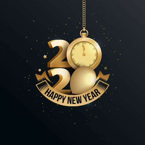 happy  year  elegant greeting card  gold  vector premium