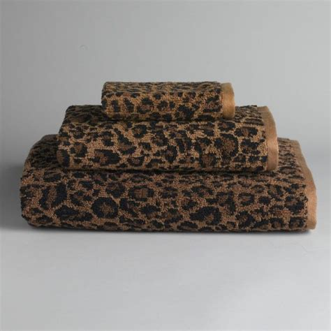 leopard print bathroom sets leopard print towels dream house pinterest ideas