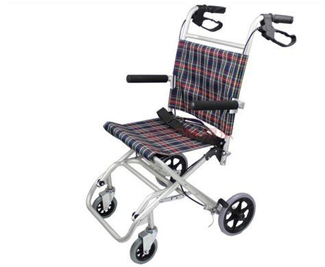 Light Weight Wheel Chair Small Aluminum Alloy Wheel Travel Wheelchair 46 Portable
