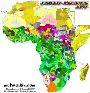 Language map of africa africa cartes linguistiques linguistic maps
