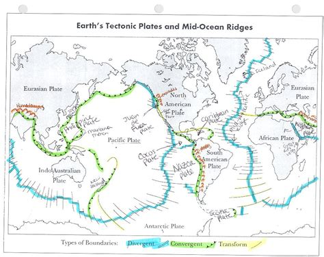 plate boundaries map tectonic plate boundaries map driverlayer search engine