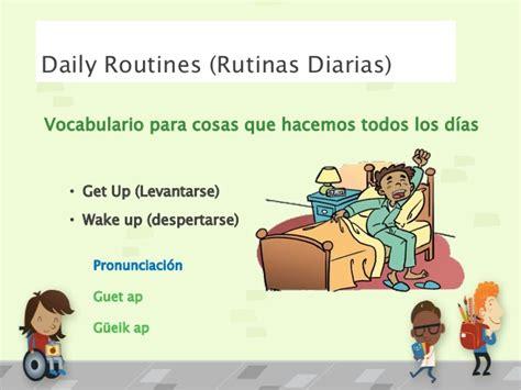 preguntas con get up daily routines vocabulary
