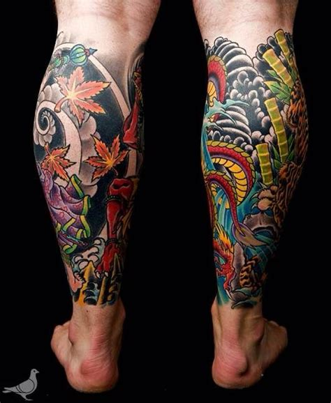dragon tattoo on leg design 42 best japanese calf images on