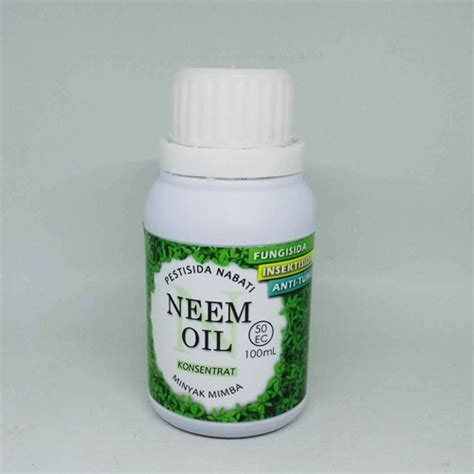 minyak mimba neem pestisida nabati organik 100ml