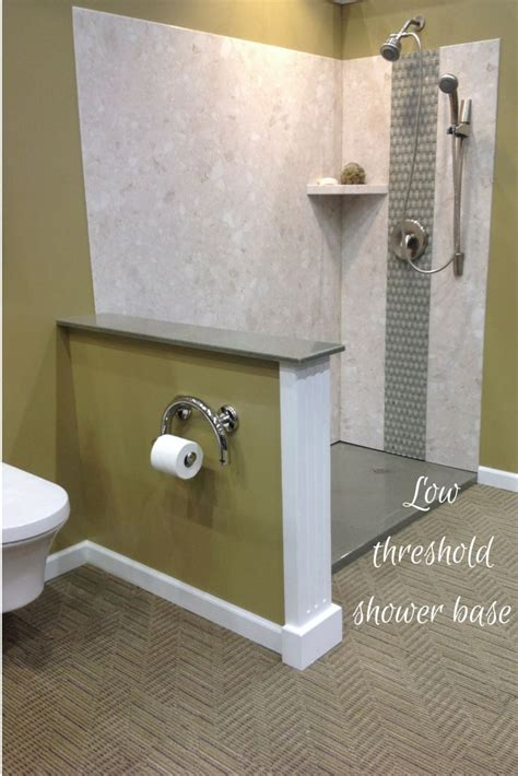 easy clean bathroom design diy shower wall panels and low threshold solid surface